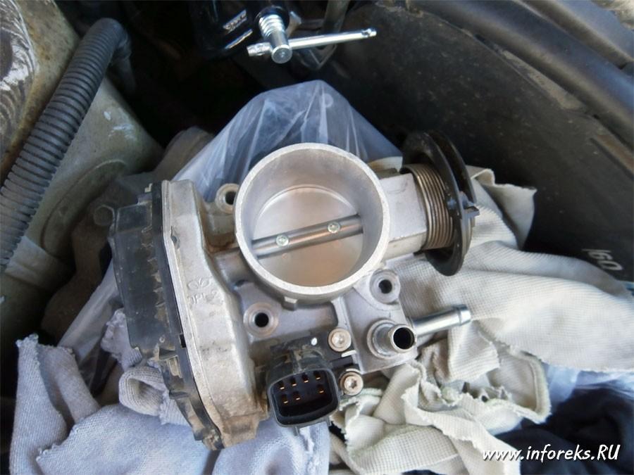 Чистка дроссельного узла и форсунок Chevrolet Lacetti 17
