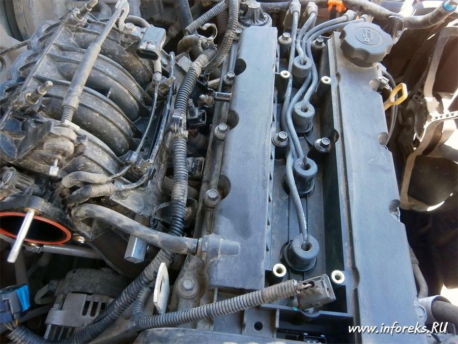 Чистка дроссельного узла и форсунок Chevrolet Lacetti 21
