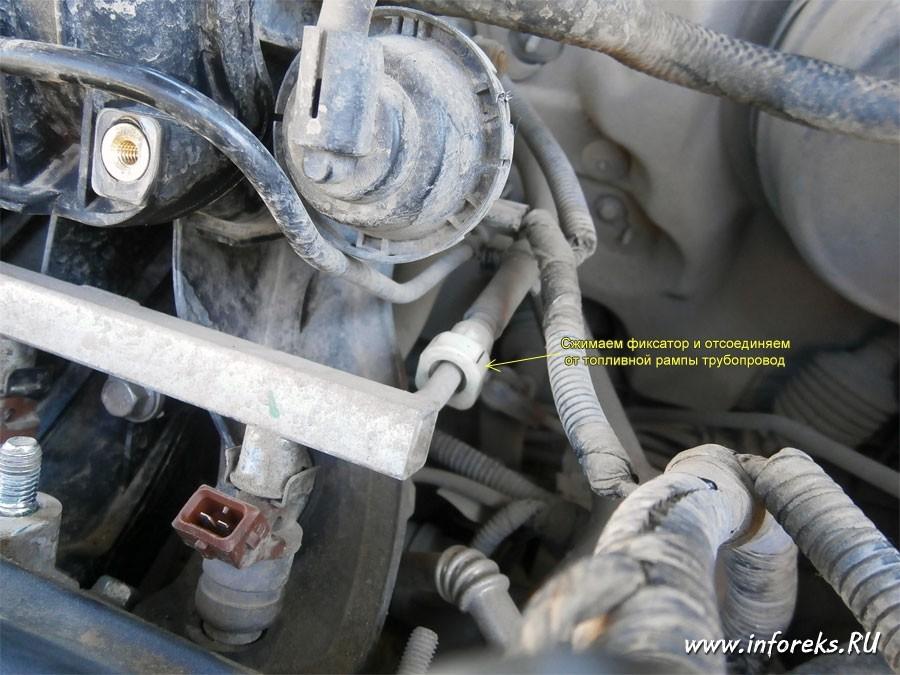 Чистка дроссельного узла и форсунок Chevrolet Lacetti 29