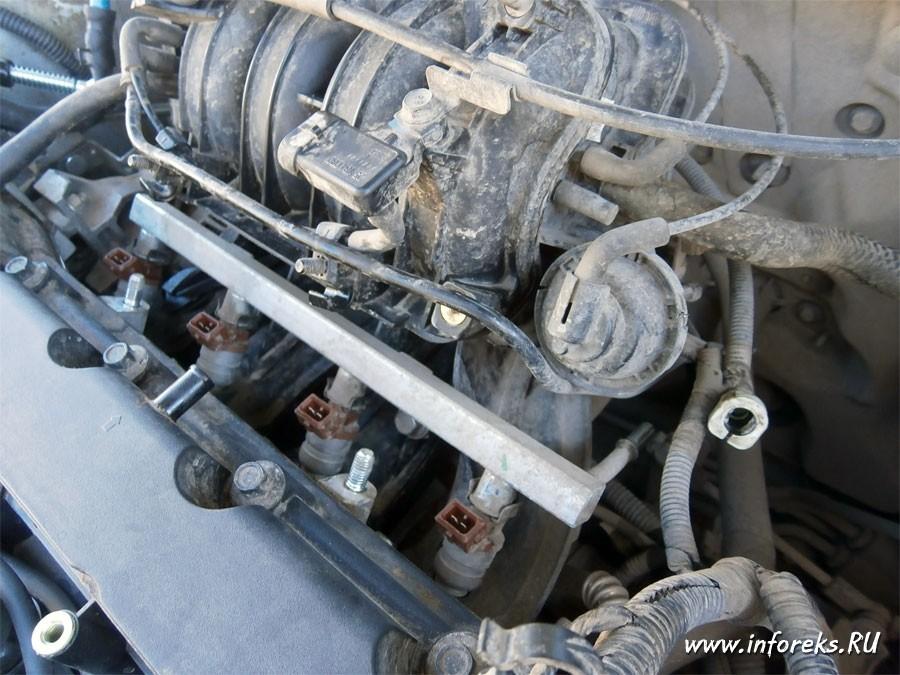 Чистка дроссельного узла и форсунок Chevrolet Lacetti 31