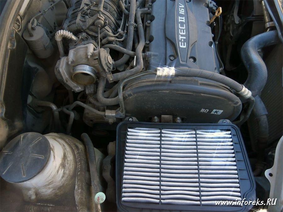 Чистка дроссельного узла и форсунок Chevrolet Lacetti 5