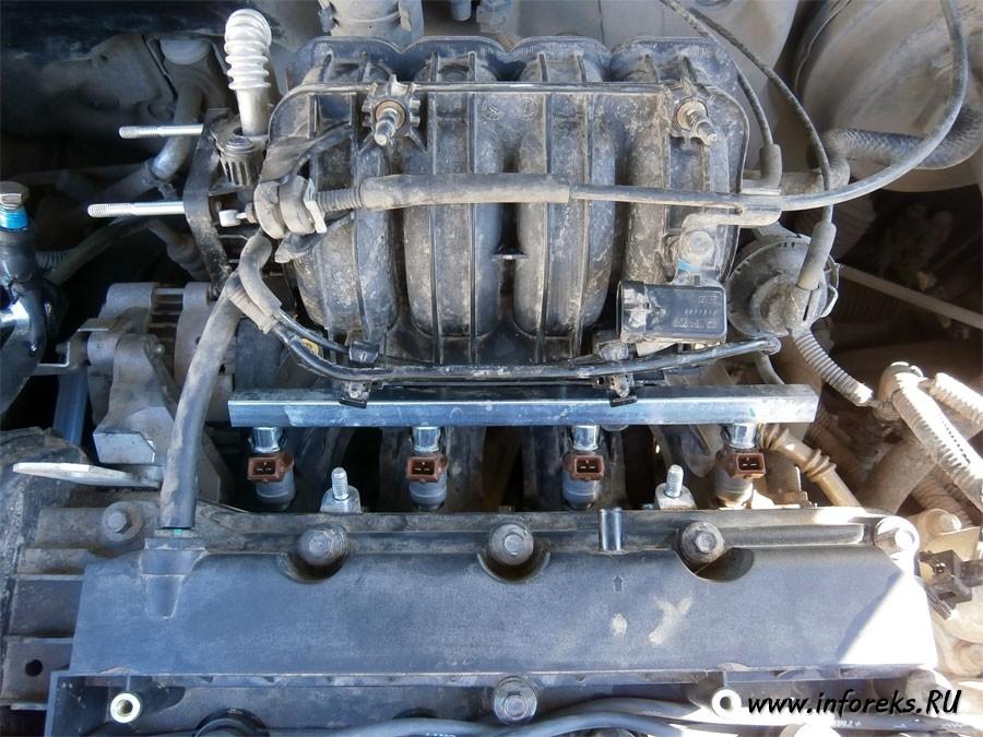 Чистка дроссельного узла и форсунок Chevrolet Lacetti 41