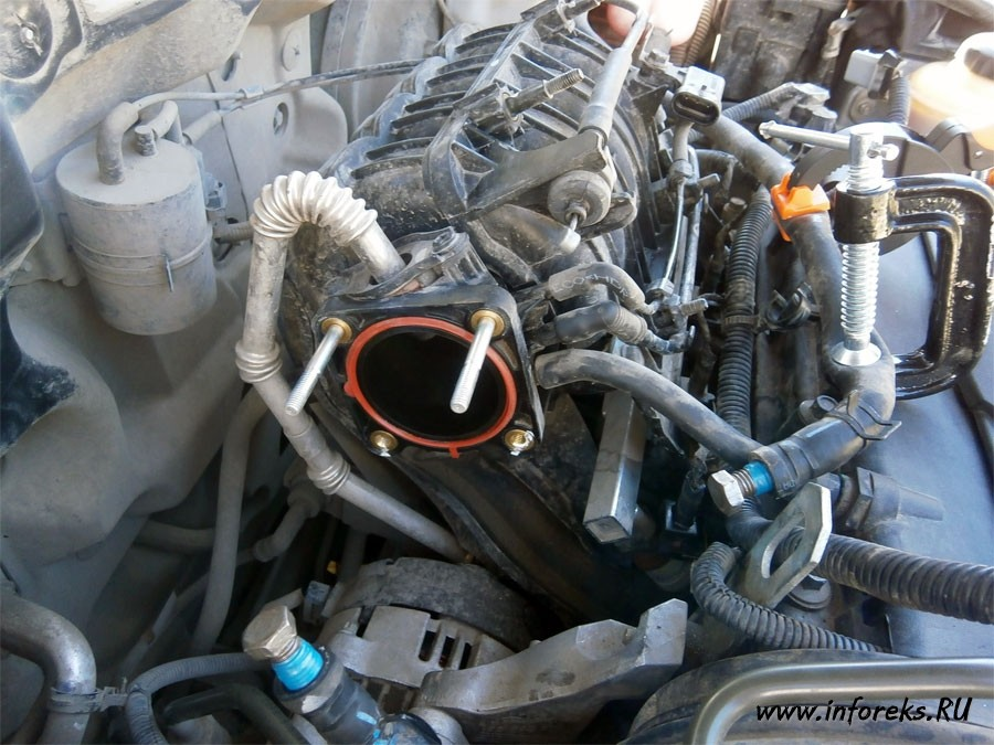 Чистка дроссельного узла и форсунок Chevrolet Lacetti 13