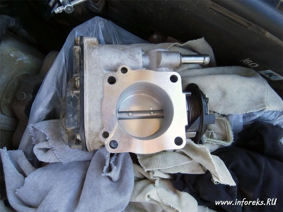 Чистка дроссельного узла и форсунок Chevrolet Lacetti 15