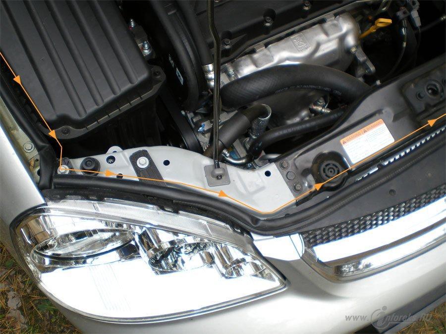 Защита подкапотного пространства Chevrolet Lacetti 19