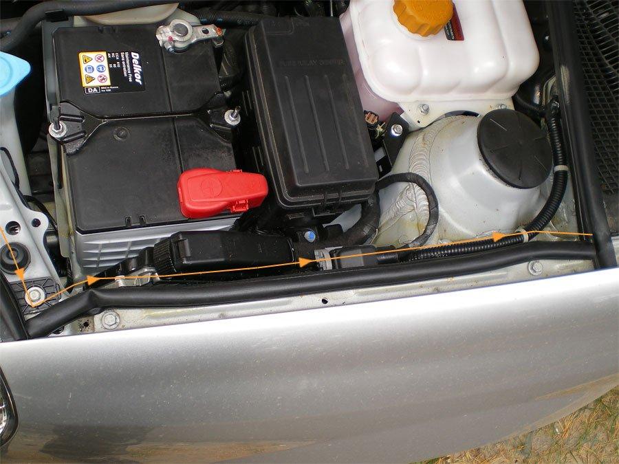 Защита подкапотного пространства Chevrolet Lacetti 13