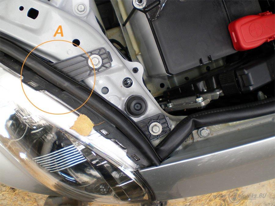 Защита подкапотного пространства Chevrolet Lacetti 15