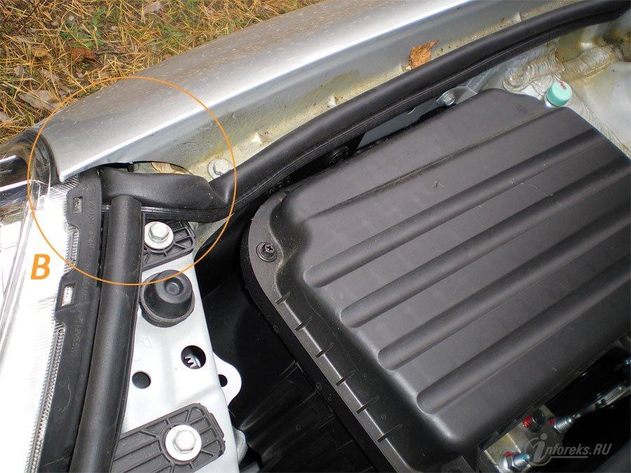 Защита подкапотного пространства Chevrolet Lacetti 17