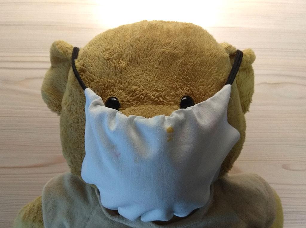 Медведь с маской от коронавируса :)